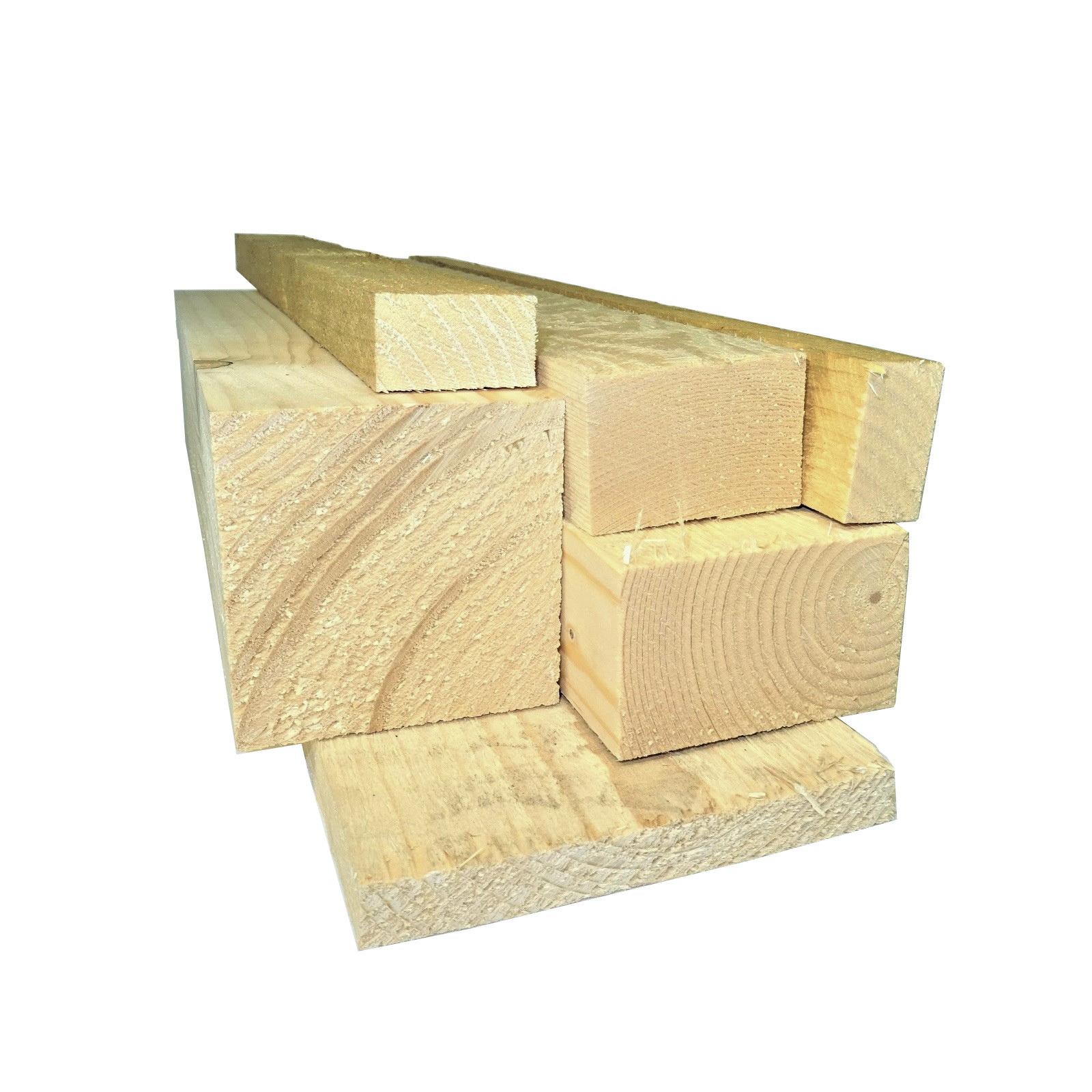 6 Stück Balken saegerau 40x60mm 2,00m Holz Kantholz Holzbalken Bauholz