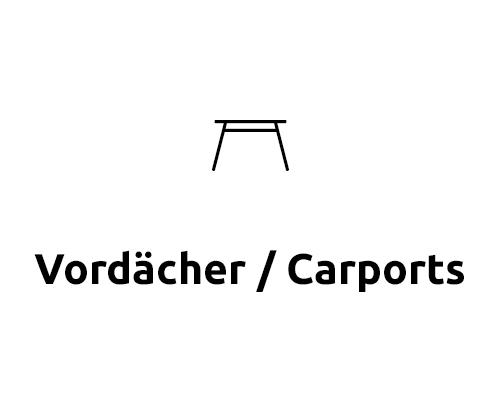 Kategorie Vordächer / Carports